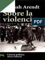 Hannah Arendt - Sobre La Violencia