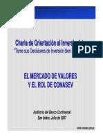 Mercado Valores Rol CONASEV