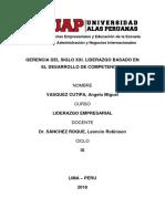 GERENCIA DEL SIGLO XXI. LIDERAZGO BASADO EN EL DESARROLLO DE COMPETENCIAS