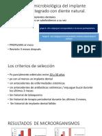 Comparación Microbiológica Del Implante Dental Osteointegrado Con Diente
