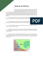 Placas Tectónicas de México