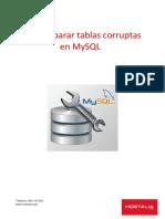 Reparar Tablas Corruptas Mysql White Paper Hostalia