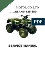 Reparatursanleitung Aeon OVERLAND 125-180 Quad Englisch