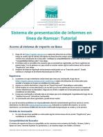 Tutorial Ramsar Online Reporting System s