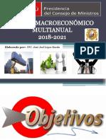 Marco Macroeconómico Multianual_escenarios 2018-2021