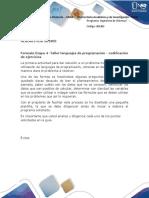Formato Etapa 4 -Taller Lenguajes de Programación - Codificación de Ejercicios