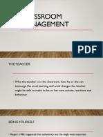 Classroom Management-The Teacher