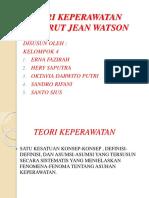 Ppt Teori Keperawatan Menurut Jean Watson