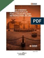 Diethell Colombus - Fuerza Popular - Plan de Gobierno - Elecciones 2018