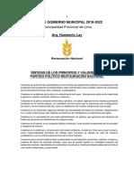 Humberto Lay - Restauración Nacional - Plan de Gobierno - Elecciones 2018