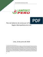 Gustavo Guerra García - Juntos Por El Perú - Plan de Gobierno - Elecciones 2018