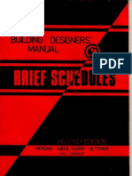 Brief Schedules - (Building Designers' Manual)