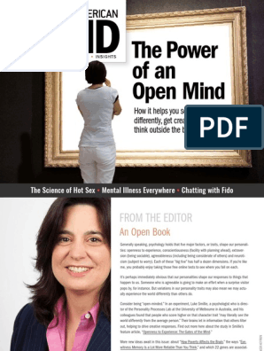 November 2017 Scientific American Mind | Chronic Traumatic