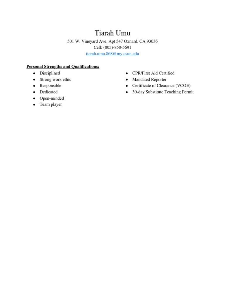 Updated Resume Tcu Teachers Behavior Modification
