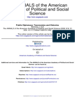 Public Diplomacy Taxonomies and Histories