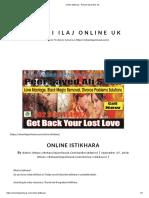 Online Istikhara - Rohani Ilaj Online Uk