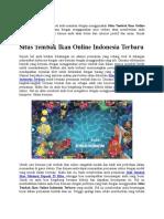 Situs Tembak Ikan Online Indonesia Terbaru