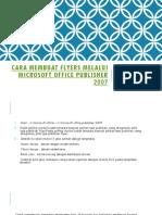 Cara Membuat Flyers Melalui Microsoft Office Publisher 2007