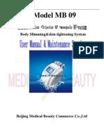 Manual of Ultracavitation Monopolar and Tripolar RF Vacuum 3