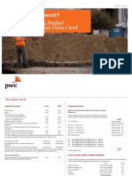 PwC 2019 Zambia Budget - Tax Data Card