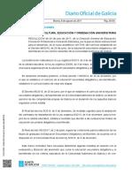 DOG08082017 Instrucciones Para El Desarrollo, En El Curso Académico 2017-18, Del Currículo