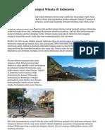 Kunjungi 3 Jenis Tempat Wisata di Indonesia