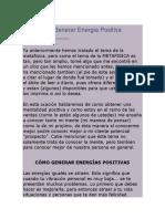 Aprende a Generar Energia Positiva