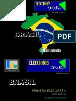 Resultados Primer Turno Encuesta Brasil 28-09-2018