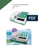 Analizador Semiautomatizado de Bioquímica