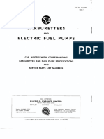 SU Carburetters and Electric Fuel Pumps AUC 9593 Issue 2