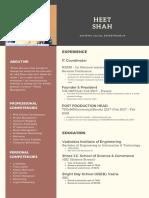 Heet Shah Resume