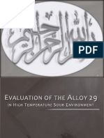 Evaluation of Alloy 29