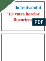 Agenda Festivalului