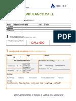 Emergency Call Sheet