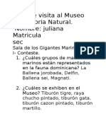 Guía de Visita Al Museo de Historia Natural