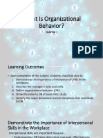 Chapter 1 - What is Organizational Behavior