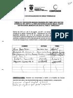 28a. Acta de Socializacion - Obra