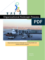 Organizational Structure Redesign for an Aviation Services Company - A Paper