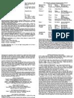 notice sheet 29th september 2018