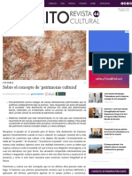 Sobre el concepto de 'patrimonio cultural' - Mito | Revista Cultural