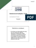 TC 041 Geotecnia de Fundações - Aula 6 Recalques