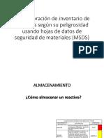 p5. Elaboracion de Inventario de Reactivos...