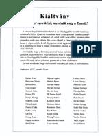 Kiáltvány - Mentsük Meg a Dunát