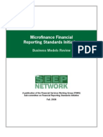MFI Reporting Standards - Business Models Review