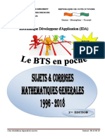 Annale des sujets et corrigés BTS de Mathématiques Générales IDA 2