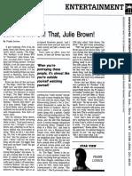 Julie Brown interview