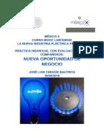 Practica LA NUEVA INDUSTRIA ELÉCTRICA EN MÉXICO
