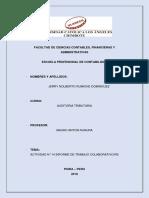 Actividad N° 14 Informe de trabajo colaborativo RS
