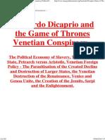 Leonardo Dicaprio Game of Thrones Venetian Conspiracy Political Economy of Slavery.pdf