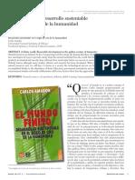 Amador, C (2010) El mundo finito. Desarrollo sustentable en el siglo de oro de la humanidad. RESEÑA.pdf